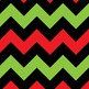 Red Green Black Christmas Chevron Alphabet Letters, Number