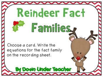 FREE Reindeer Fact Families