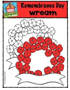 FREE Remembrance Day Wreath {P4 Clips Trioriginals}