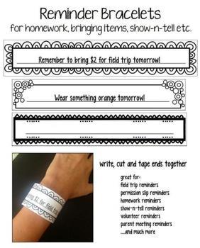 FREE Reminder Bracelets
