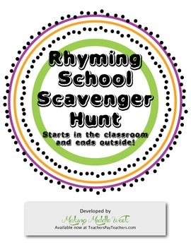 FREE Rhyming School Scavenger Hunt