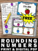 FREE Rounding Numbers Task Cards Math Place Value Games &
