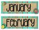 Rustic Wood Calendar Pack - Distressed Wood, Burlap, Mason Jars