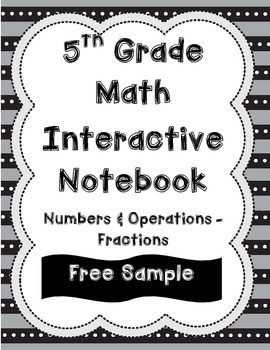 FREE SAMPLE: 5th Grade Interactive Notebook-Numbers and Op