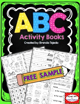 FREE SAMPLE: Alphabet Foldable Activity Books- 2 free books!
