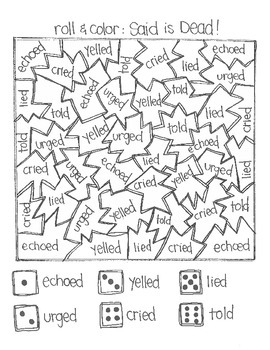 *FREE SAMPLE* Even MORE Roll & Color Games:  Sentences and