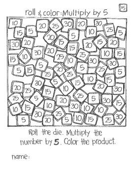*FREE SAMPLE*  Even MORE Roll & Color: Multiplication (part 1)