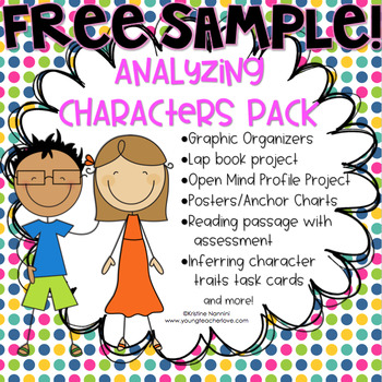 {FREE SAMPLE} Inferring Character Traits Organizer (Analyz
