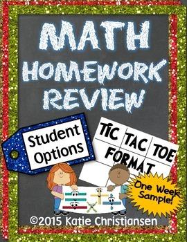 FREE SAMPLE Math Homework - Place Value