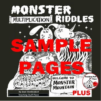 FREE...Monster Multiplication Riddles ...and MORE FREE Gr. 3-4