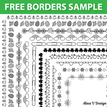 FREE SAMPLE OF 404 Seasonal Borders and Frames