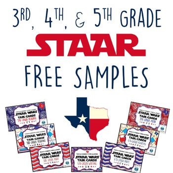 FREE SAMPLES-STAAR Wars 3rd, 4th, & 5th Grade Math, Readin