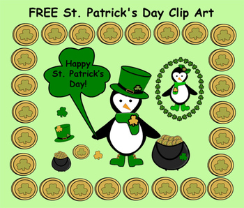 FREE  ST. Patrick's Day Clip Art  (PNG format, transparent