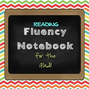 FREE STUDENT Fluency Notebook for the iPad