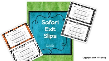 FREE Safari Exit Slips
