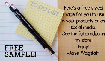 FREE Sample:  Styled Image Stock Photo for Teacherpreneurs