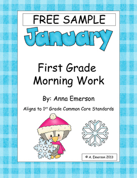 FREE Sample of January Morning Work for First Grade Common
