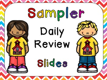 FREE Sampler Daily Review PowerPoints for Kindergarten~Gre