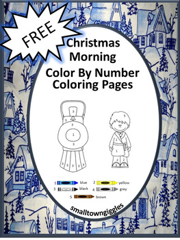 FREE Sampler Christmas Morning NO PREP Color By Number Col