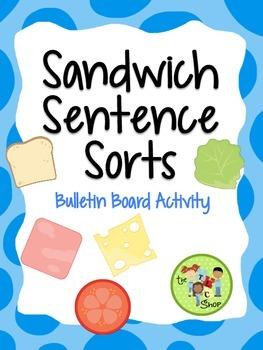 FREE! Sandwich Sentence Sort {Bulletin Board Activity}