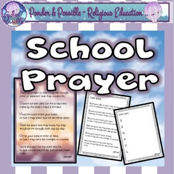 *FREE* School Prayer ~ Back to school, beginning of a term