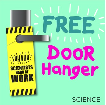 FREE Science Door Hanger