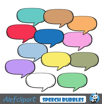 FREE!!! Set comics multiclored speech bubbles.