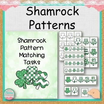 FREE Shamrock Matching Tasks