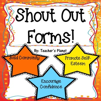 FREE Shout Out Forms