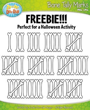 FREE Skeleton Bone Tally Marks Clipart — Perfect for Halloween!