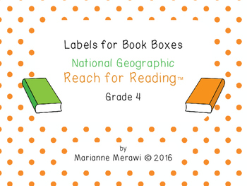 FREE Small Group Book Box Labels - National Geographic Rea