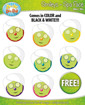 FREE Spa Face Smiley Faces Emotions Clip Art Graphics
