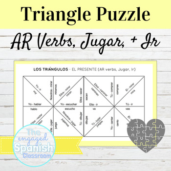 FREE Spanish Present Tense -AR Verb Puzzle -- also include