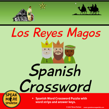 FREE Spanish Christmas and Los Reyes Magos Crossword Puzzl
