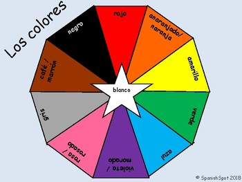 FREE!!! Spanish Color Wheel on 8.5x11