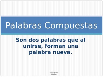 FREE Spanish Compound Words PPT
