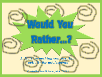 FREE Speech Therapy Conversations Activity