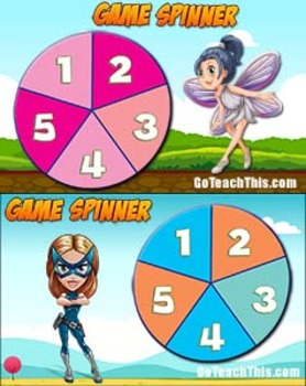 Game Spinners - 2 FREE Printable & 2 FREE Smartboard Game