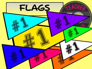 FREE Sports Flags {TeacherToTeacher Clipart}