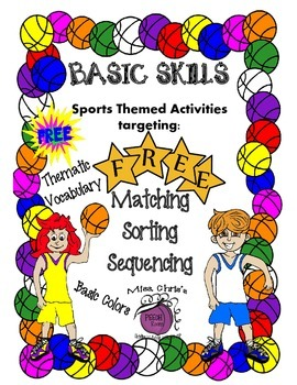 FREE Sports Themed Activities targeted Basic SKills Sequen