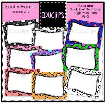 ~FREE~ Spotty Frames Clip Art Bundle