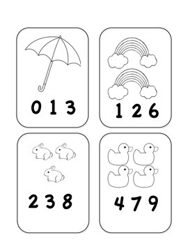 FREE!! Spring Math Count & Clip Cards Counting Numbers 1-1