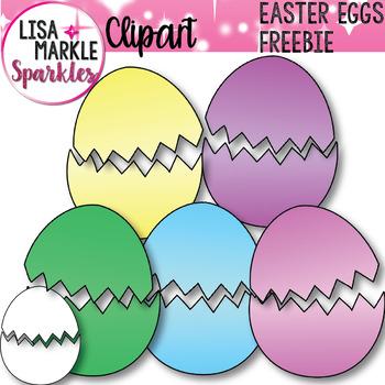 FREE Spring Easter Eggs Clip Art