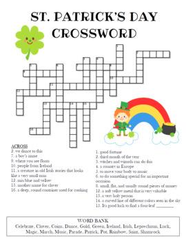 St. Patrick's Day Crossword Puzzle