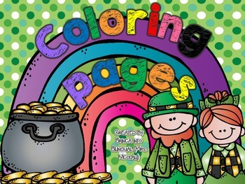 FREE St. Patrick's Coloring Pages Paginas para colorear PK
