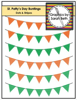 FREE St. Patrick's Day Clipart - Buntings -- Dotted & Stripes