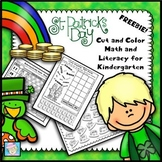 FREE!  St. Patrick's Day Cut and Color Math and Literacy f