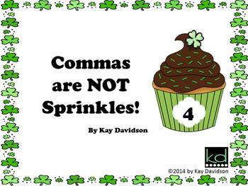 FREE St Patrick's Day Grade 4 CCSS Comma Rules Posters: Co