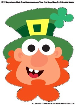 FREE St Patrick's Day Leprechaun Mask
