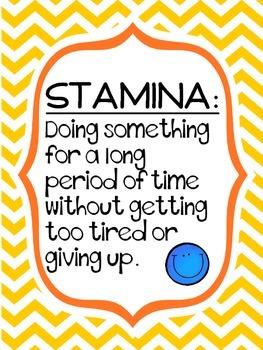 FREE Stamina Definition Poster